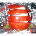 Millefeuille de tomate au basilic