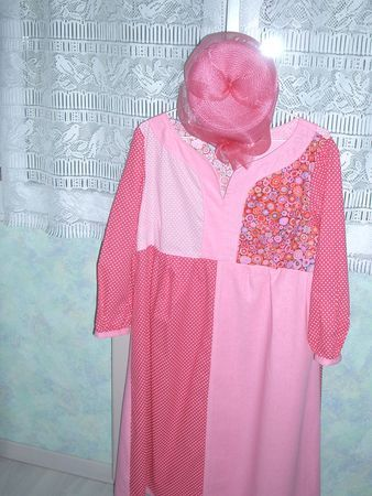Tunique t en rose version patchwork
