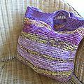 Sac coton violet et jaune