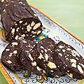 Salame di cioccolata- chocolate salami - salami au chocolat
