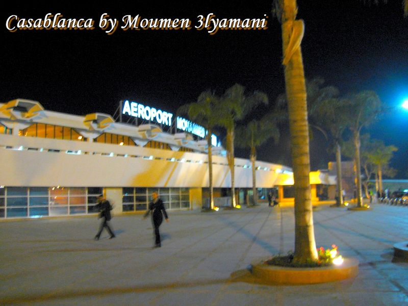 Aéroport Mohammed V Casablanca by night