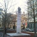 Sculpture représentant Saint-Exupéry et Le Petit Prince, située sur la Place Bellecour, Lyon