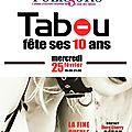 Les <b>Editions</b> <b>Tabou</b> fêtent leurs dix ans avec Flore Cherry