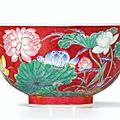 Sotheby's hong kong sets world auction record for qing kangxi porcelain