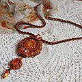 Collier pendentif Lady in Orange 19-1