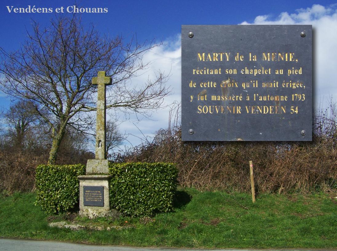 Saint-Malo-du-Bois (85) – Croix de la Ménie (1954)