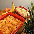 Poulet au curry et riz madras