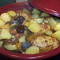 Tajine de poulet pruneaux amandes !! et légumes !!
