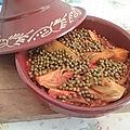 Tajine de poulet au fenouil et aux petits pois
