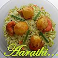 Spicy risotto with scallops