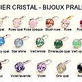 Tout nouveau tout beau le nuancier des cristaux swarovski pour vos bijoux !