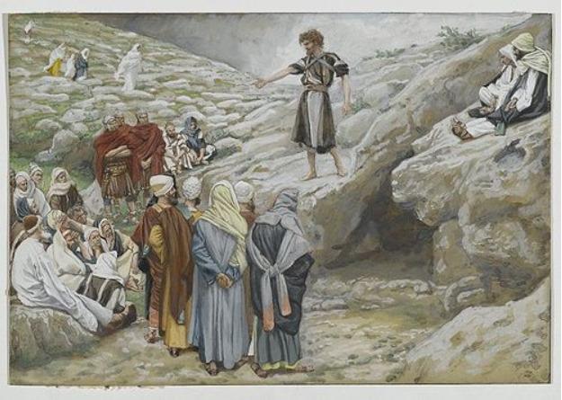 Jn 1, 19-28 légation auprès du baptiste, James Tissot, XIXe