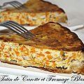 Tatin de carotte et fromage blanc