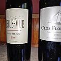 Haut-Médoc : <b>Château</b> Belle-Vue 2010, Graves : Clos Floridène blanc 2010