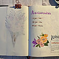 Mes pages <b>bullet</b> journal juin 2020