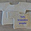 <b>TUTO</b> BRASSIERE POUPEE 40 CM AIGUILLES CIRCULAIRES