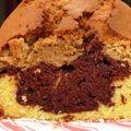 Cake tricolore pistache choco vanille