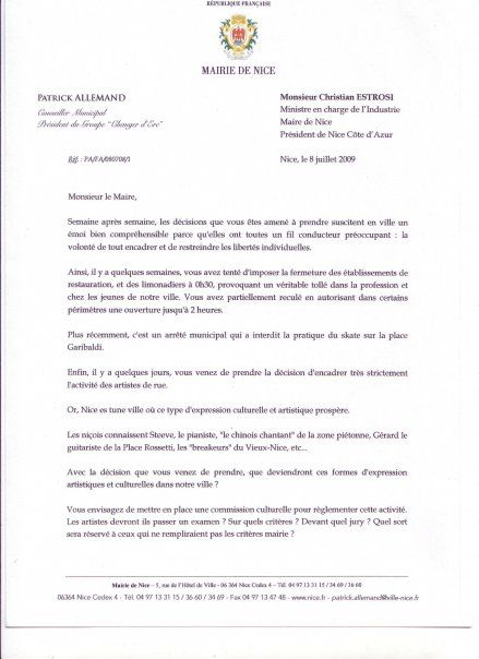 lettre type mairie