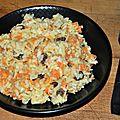 Risotto carottes et raisins secs