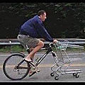 Humour - le vrai vélo de courses...