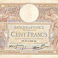 Billet <b>100</b> <b>francs</b> recto vintage