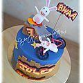 gâteau d'anniversaire <b>lapins</b> crétins