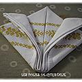 Pliage de <b>serviettes</b>