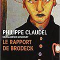 «le rapport de brodeck » de philippe claudel