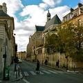 Saint-Etienne du Mont depuis la rue Clovis.