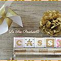 Cubes en bois personnalisés, <b>cadeau</b> de baptême ou de naissance de bébé