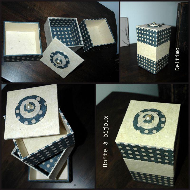 Boîte à bijoux 3 niveaux Plumetis