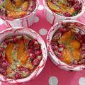 Clafoutis aux groseilles et abricots