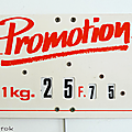 Vintage ... ancienne etiquette de prix * en francs