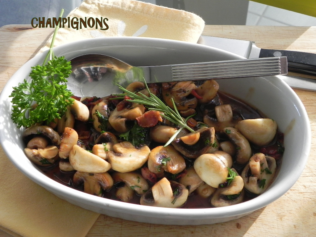 Poêlée de champignons, sans gluten et sans lactose