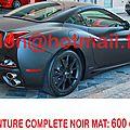 FERRARI <b>CALIFORNIA</b>, peinture automobile, peintures tuning auto piece Total covering noir mat, peinture covering noir mat, cover