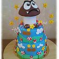 Gâteau d'anniversaire <b>Mario</b> <b>Bros</b>