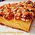 Tosca cake ou gâteau suédois aux amandes caramélisées