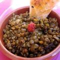 Curry de lentilles et sa brick carottée au curry