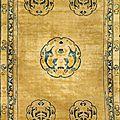 Un tapis Chinois, <b>Fin</b> <b>XIXeme</b> <b>siècle</b>