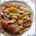 Soupe au <b>chou</b> et haricots <b>blancs</b>
