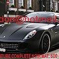 FERRARI 599 <b>GTB</b>, decoration pour voiture, autocollant tuning stickers Total covering noir mat, peinture covering noir mat, cov