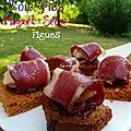 Canapés magret foie gras