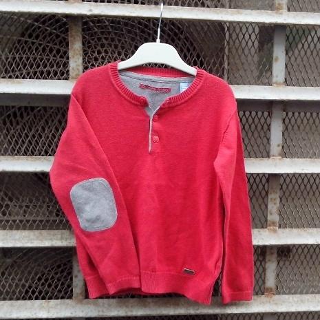Pull rouge Okaïdi Basic, 6 ans