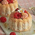 Minies charlotte framboises- fraises et pistaches