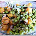 <b>Petits</b> <b>pois</b>-carottes aux lardons fumés