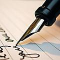 Le stylo à plume