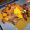 Confit de canard a l'orange et aux fruits secs