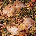 Poulet au four et légumes / recette facile et rapide