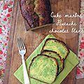 Cake pistache & chocolat blanc d'isabelle, ultra moelleux