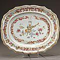 Présentoir de forme polylobée en porcelaine. Chine, <b>époque</b> <b>Quianlong</b> (1736-1795)